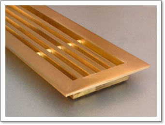Linear Brass Grille 6mm Framed