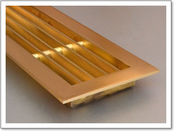 Linear Brass Grille 3mm Framed