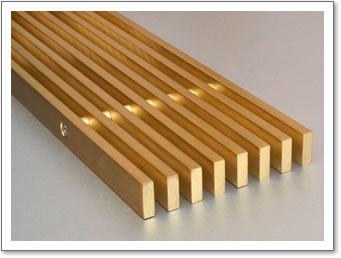 Linear Brass Grille 6mm