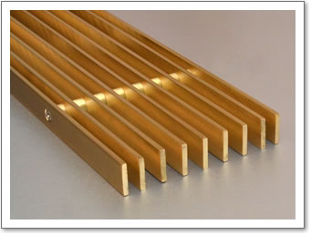 Linear Brass Grille 3mm