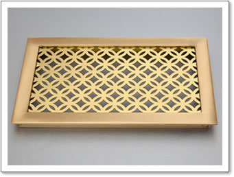 Brass Frame with Perforated Grille