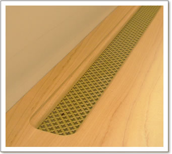 Brass Perforated Desk Grille
