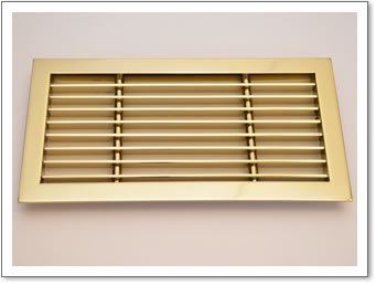 Brass Frame Linear Grille