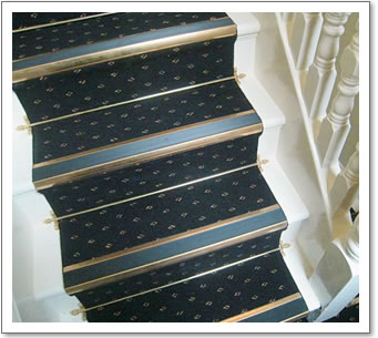 Brass Stair Rods Installed