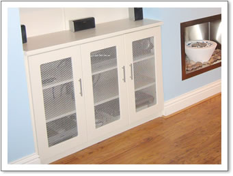 Chrome Effect Cupboard Grille