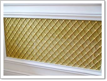 Brass Regency Radiator Grille with Mesh Backing