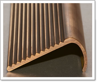 Brass Stair Nosing (shown in Antique Brass finish)